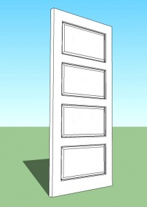4 Horizontal Panel Engineered Door